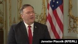 Держсекретар США Майк Помпео під час ексклюзивного інтерв'ю Радіо Свобода. Прага, 12 серпня 2020 року