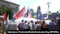 Киев: палаточный лагерь сторонников Юлии Тимошенко