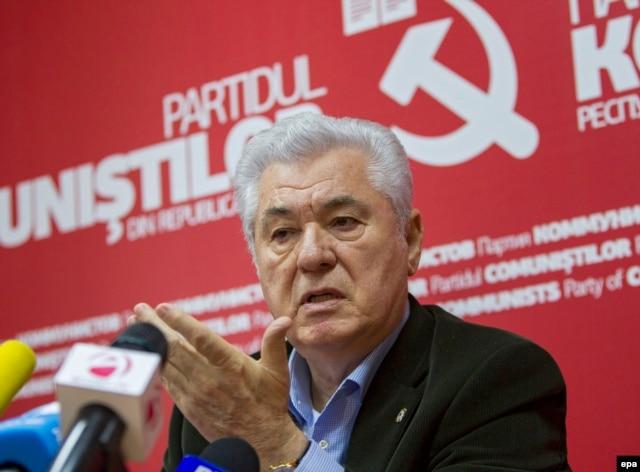 Владимир Воронин, лидер молдавской компартии, занявшей на этот раз лишь третье место на выборах