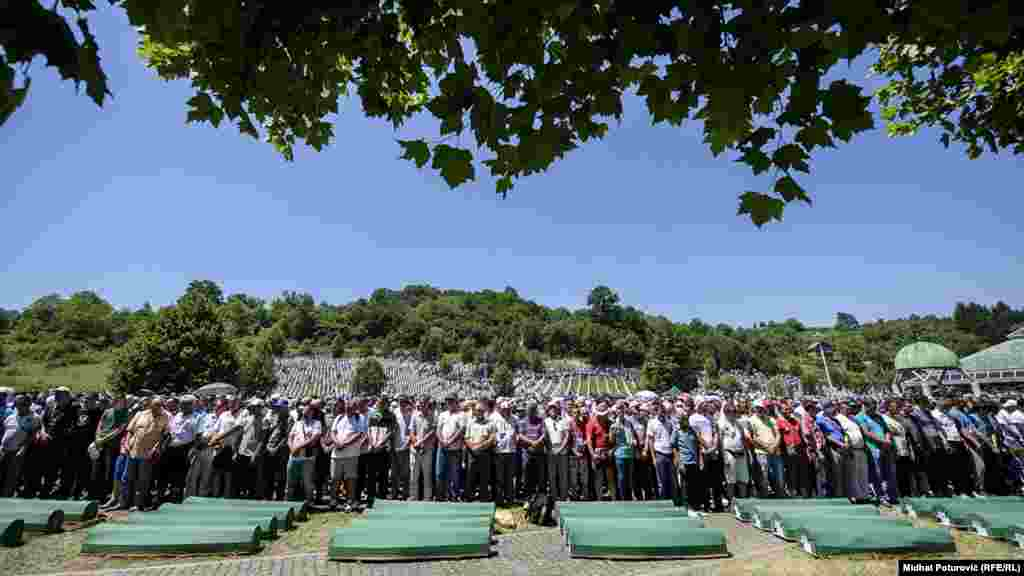 The burial of the Srebrenica massacre victims, July 11, 2017.