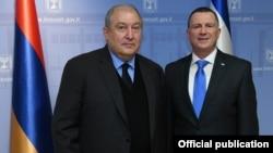 Հայաստանի նախագահի և Իսրայելի Քնեսեթի նախագահի հանդիպումը, լուսանկարը՝ նախագահականի
