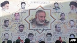 A memorial in Tehran to members of Iran's Revolutionary Guards who were killed in the suicide attack