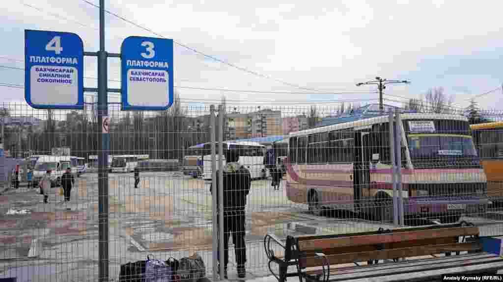 Зона безпеки на Центральному автовокзалі Сімферополя