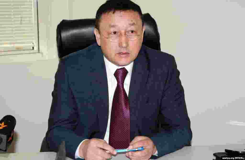 Директор метро Алматы Кыдрал Бегасильев. Алматы, 10 января 2013 года.