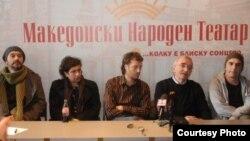"""Прес конференција за претставата """"Изгубени Германци"""" по текст на Дејан Дуковски која премиерно ќе биде изведена во Македонскиот народен театар (МНТ)."""