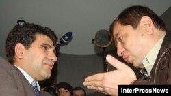 Levan Qaçeçiladze Levan Tarxinişviliylə mübahisə edir - 8 yanvar 2008