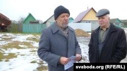 Аляксандар Грудзіна (зьлева) і Рыгор Кастусёў.