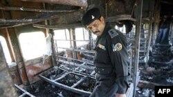 انفجار و آتش سوزی قطاری در مسیر هند- پاکستان در روز دوشنبه، موجب کشته شدن بيش از ۶۰ نفر و مجروح شدن ۱۰۰ نفر شد.