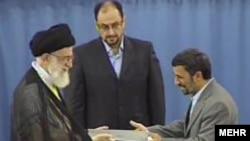 مراسم تنفیذ محمود احمدی نژاد