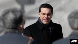 Gresiýanyň premýer-ministri Aleksis Tsipras, Moskwa, 8-nji aprel, 2015.