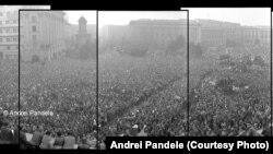 ROMANIA Pandele 22 decembrie 1989, ora 14:00, fotografie panoramică