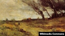 Жан Батыст Каміль Каро, «Ветранае надвор'е» (1865).