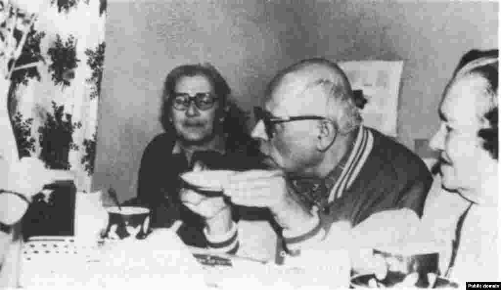 София Калистратова с Андреем Сахаровым и Еленой Боннер.