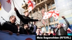 """""""Улуттук кыймылдын"""" Тбилисидеги демонстрациясы. 21-март, 2015-жыл."""