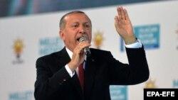 Президент Турции Реджеп Тайип Эрдоган. Архивное фото.