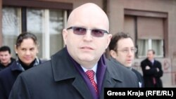 Филип Рикер за време на вчерашната посета на Косово
