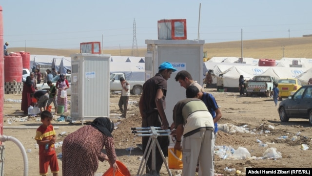 Iraq - Irbil. Camp for displaced persons from Mosul 18Jun2014