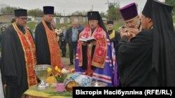 Освячення землі під забудову храму у Бахмуті