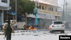 Mogadishu şeerinde patlavlav, Somali (arhiv süreti)