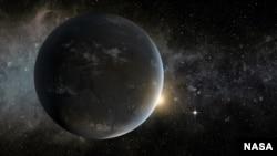 Реконструкция одной из известных экзопланет, Kepler-62f