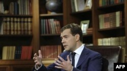 President Medvedev's television appearance was taped in Moscow on February 12 and aired on Russian TV three days later.