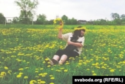 Вікторыя Грыніна з сваім сабакам