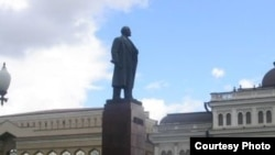 Lenin statue in central Kazan