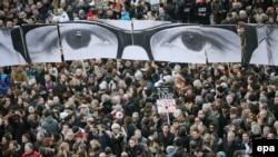 La marșul împotriva terorismul de la Paris la 11 ianuarie 2015
