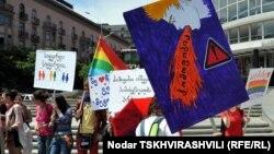 თბილისი, 2012 წლის 17 მაისი, ჰომოფობიასა და ტრანსფობიასთან ბრძოლის საერთაშორისო დღე.