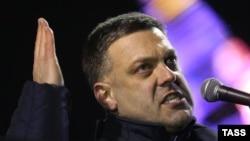 План действий оппозиции представил Олег Тягнибок