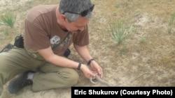 Председатель экологического движения «Алейне плюс»Эрик Шукуров.