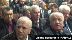 Ion Muruianu (mijloc) la o adunare a judecătorilor.