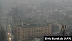 Smog nad ulicama Sarajeva, fotoarhiv