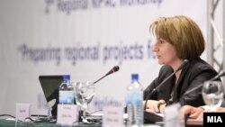 Вицепремиерката за европски прашања Теута Арифи.