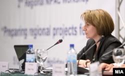 Вицепремиерката за евроинтеграции, Теута Арифи.