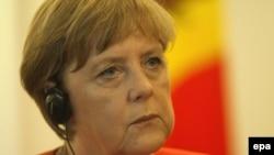 Анґела Меркель на прес-конференції в Кишиневі 22 серпня 2012 року