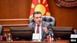 Премиерот Зоран Заев на седница на Влада.
