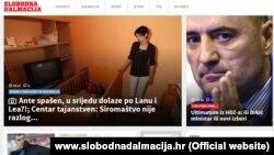 Naslovnica portala Slobodne Dalmacije, 27. veljače 2016.