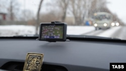 Soon to be redundant? A GPS navigation device in a car in Ivanovo, Russia. (file photo)
