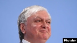 Armenia -- Foreign Minister Edward Nalbandian at a press conference in Yerevan, 22Jan2010