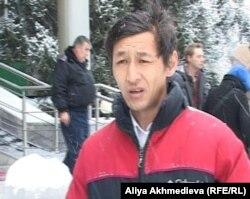 Тимур Ким, брат егеря, убитого вблизи заставы «Арканкерген». Талдыкорган, 20 ноября 2012 года.