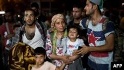 پناهجویان سوری در یونان.