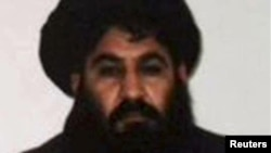 The late Taliban leader Mullah Akhtar Mansur (file photo)