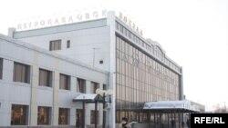 Петропавлдың темір жол вокзалы. 28 қаңтар 2009 ж.