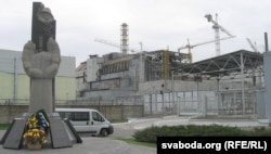 Помнік ліквідатарам каля Чарнобыльскай АЭС