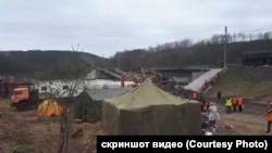 Обрушение моста в Кольском районе