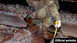 Ուկրաինա - Օդեսայում պայթյունի հետևանքով վնասված երկաթգիծը, 13-ը մայիսի, 2015թ․