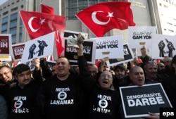 Демонстрация сторонников Фетхуллаха Гюлена в Анкаре. 2014 год