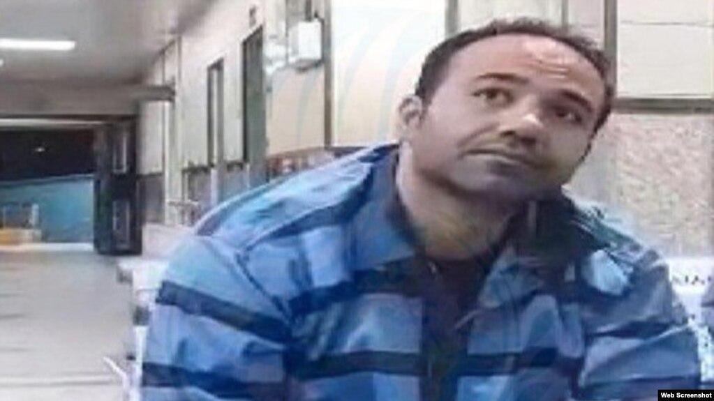 File photo - Prisoner of Conscience Soheil Arabi in prison. Undated