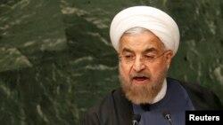 Իրանի նախագահ Հասան Ռոհանին ելույթ է ունենում ՄԱԿ-ում, սեպտեմբեր, 2014թ․